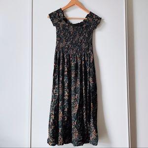 Kimchi Blue Picnic Smocked Off-The-Shoulder Dress